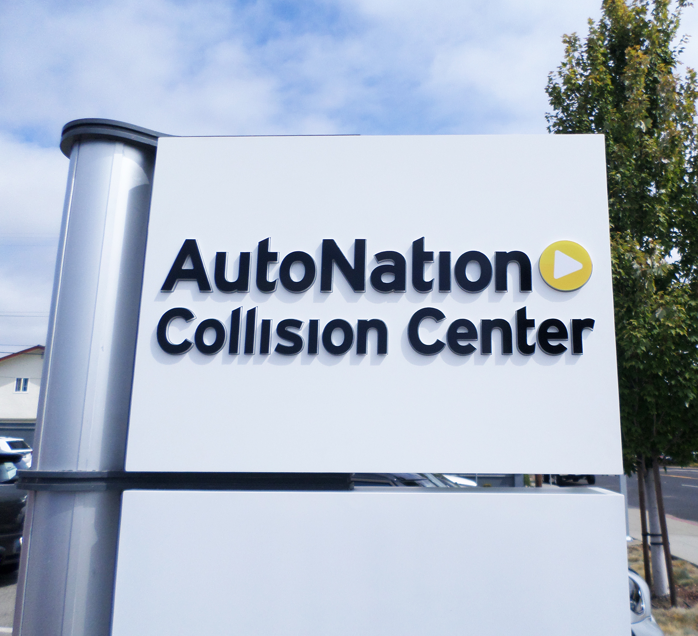 Push Thru letter signage for Auto Nation, San Jose