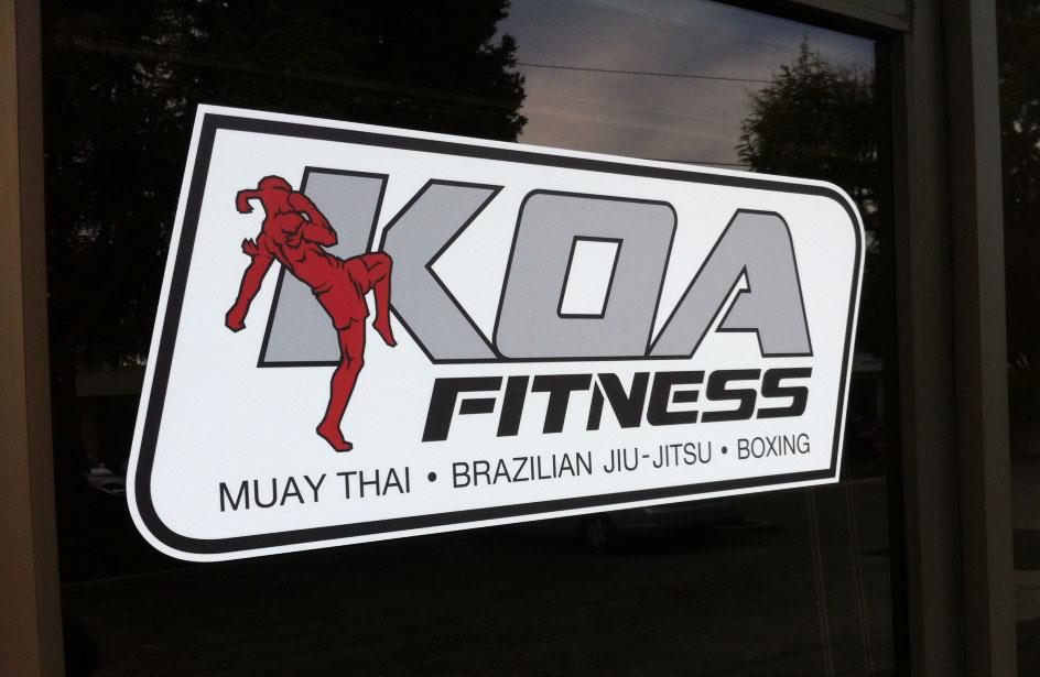 KOA Fitness door sign