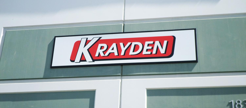 Light Box sign for Krayden, Morgan Hill CA
