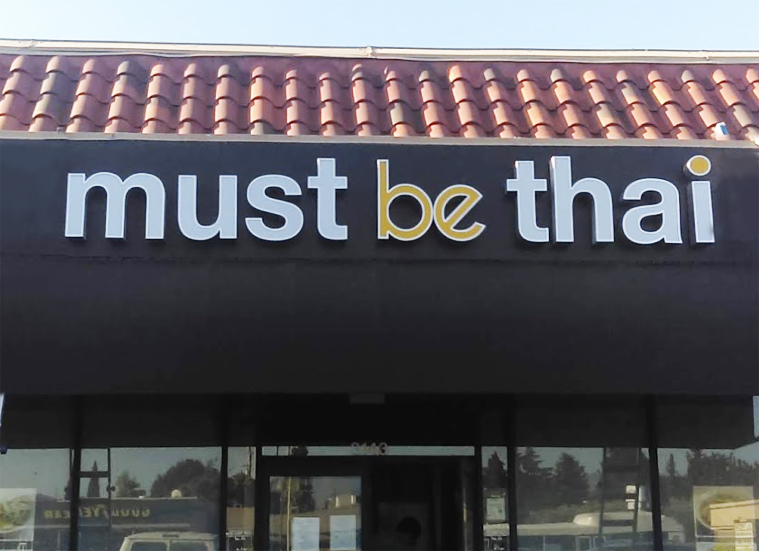 Channel letter sign for Must be Thai, Santa Clara CA