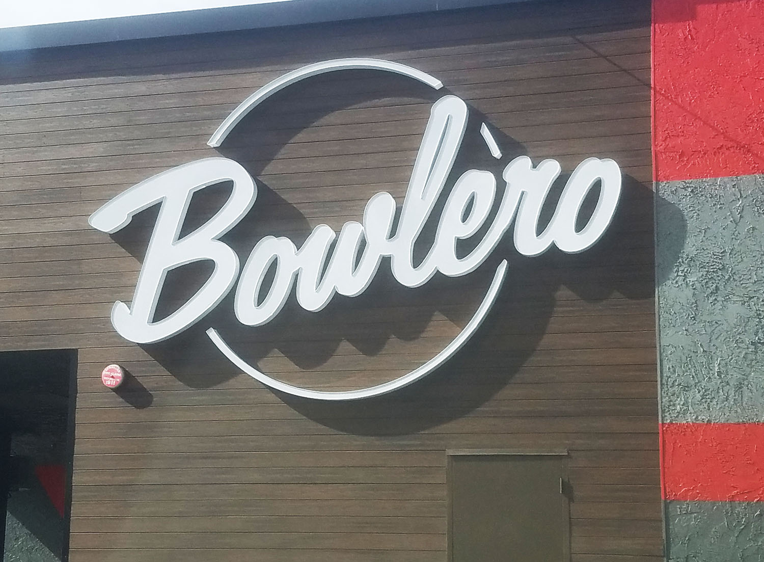 Channel letter sign for Bowlero, Milpitas CA