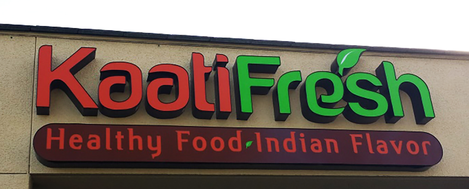 Channel Letter sign for Kaati Fresh, San Jose
