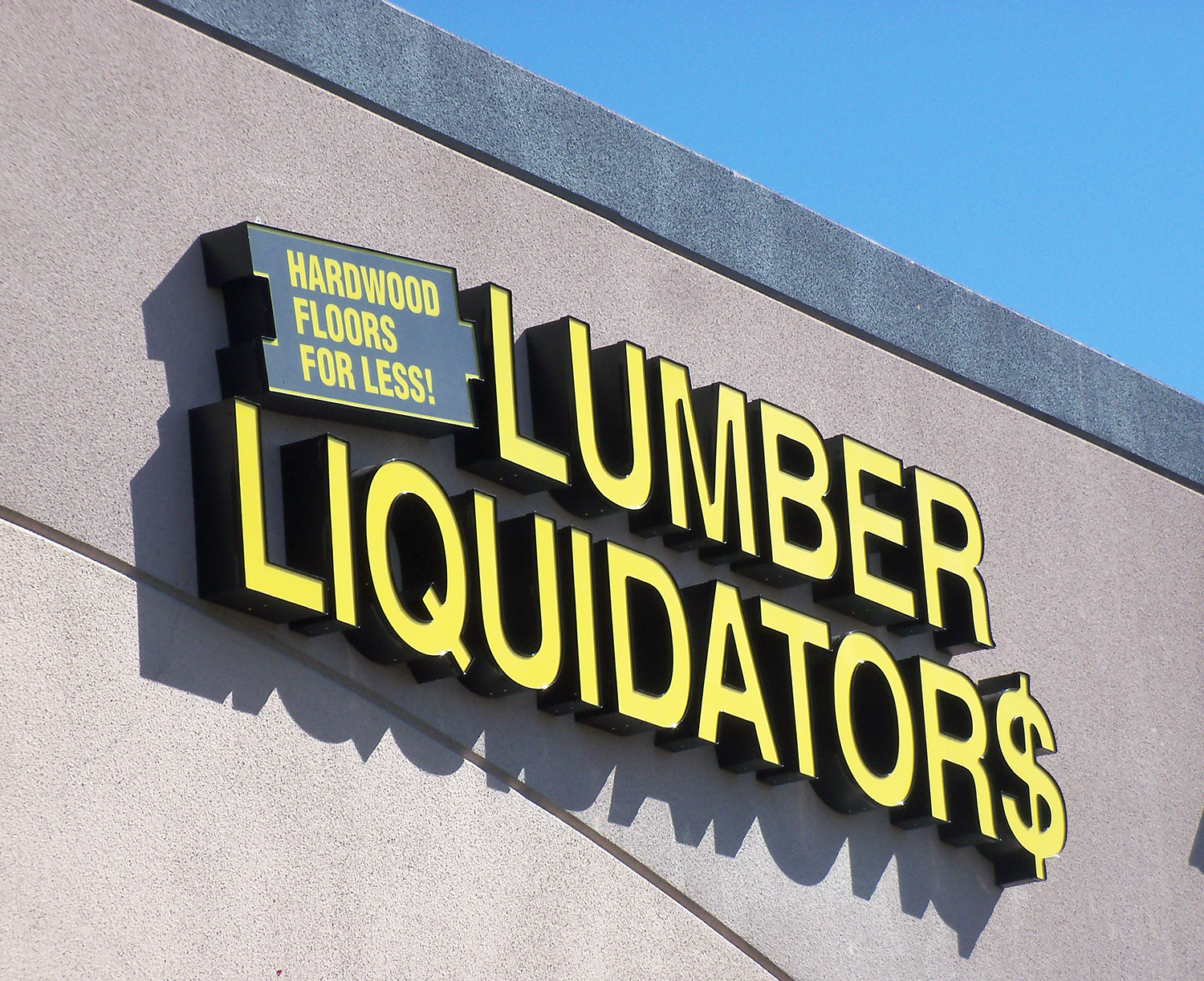 Channel Letter sign for Lumber Liquidators, Livermore CA