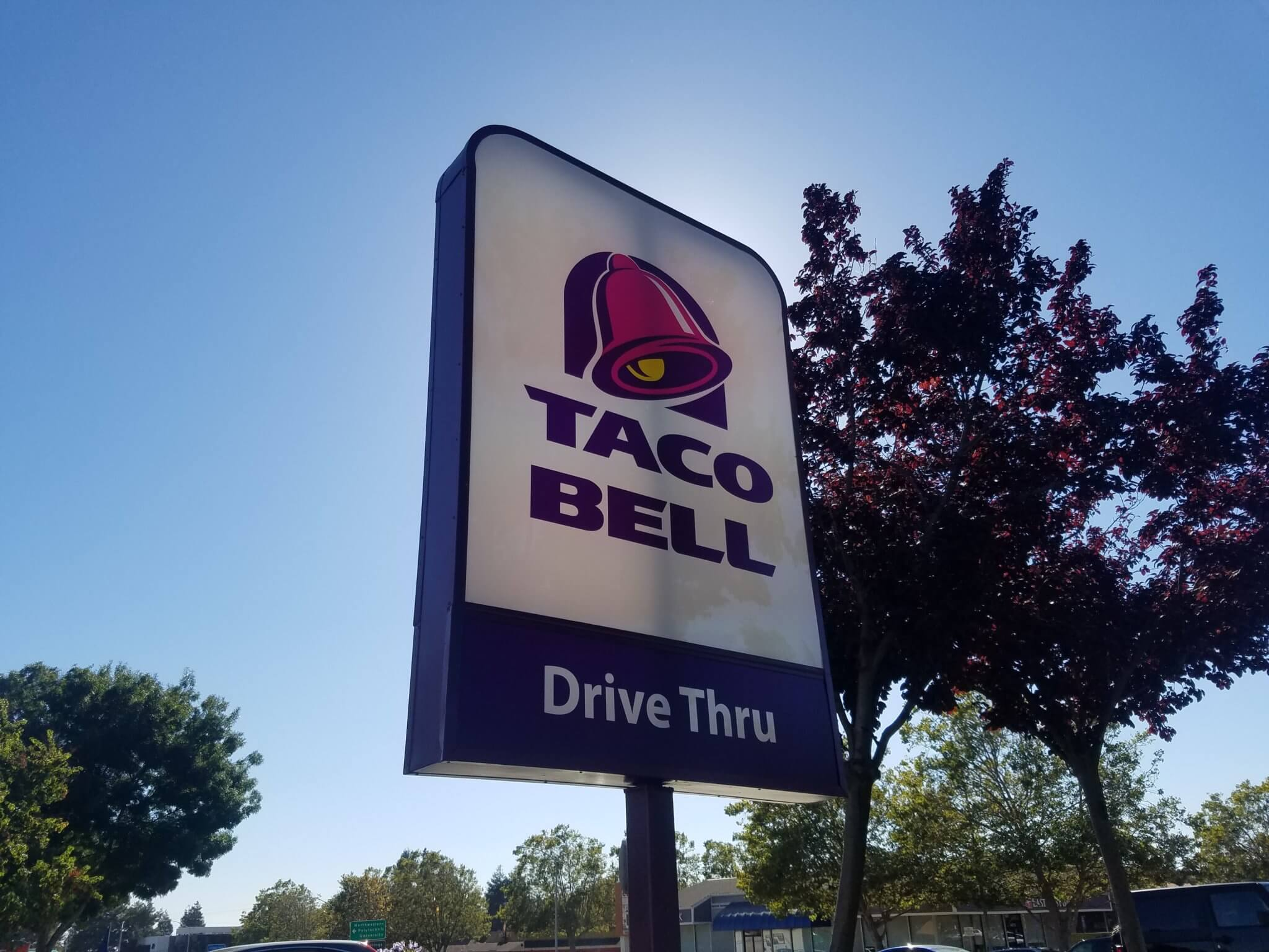 Taco Bell sign panel installed