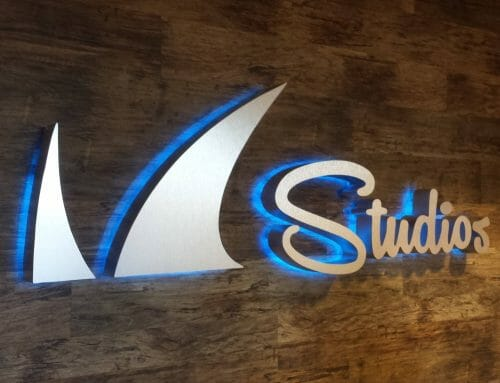 Building and lobby signage for Barracuda Networks, San Jose campus