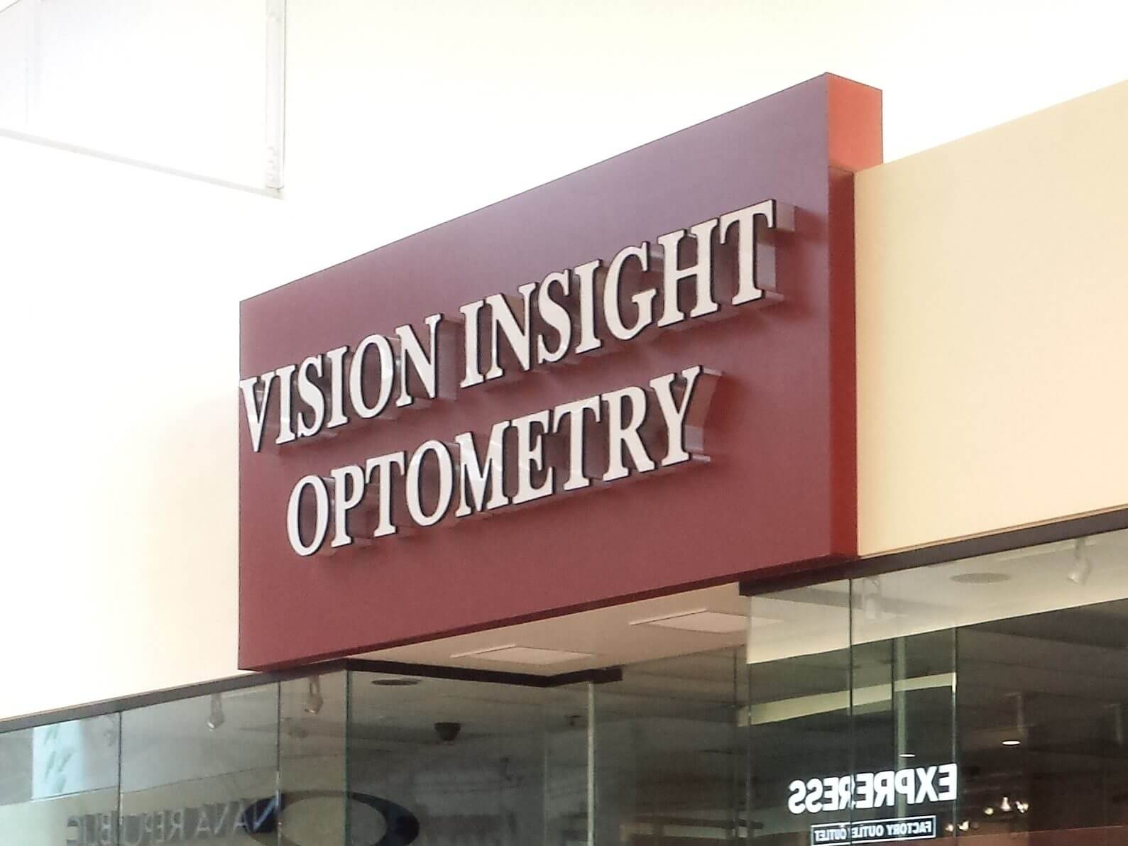 Channel Letter for Vision Optometry, Great Mall Milpitas CA