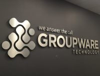 Lobby sign for Groupware Technology