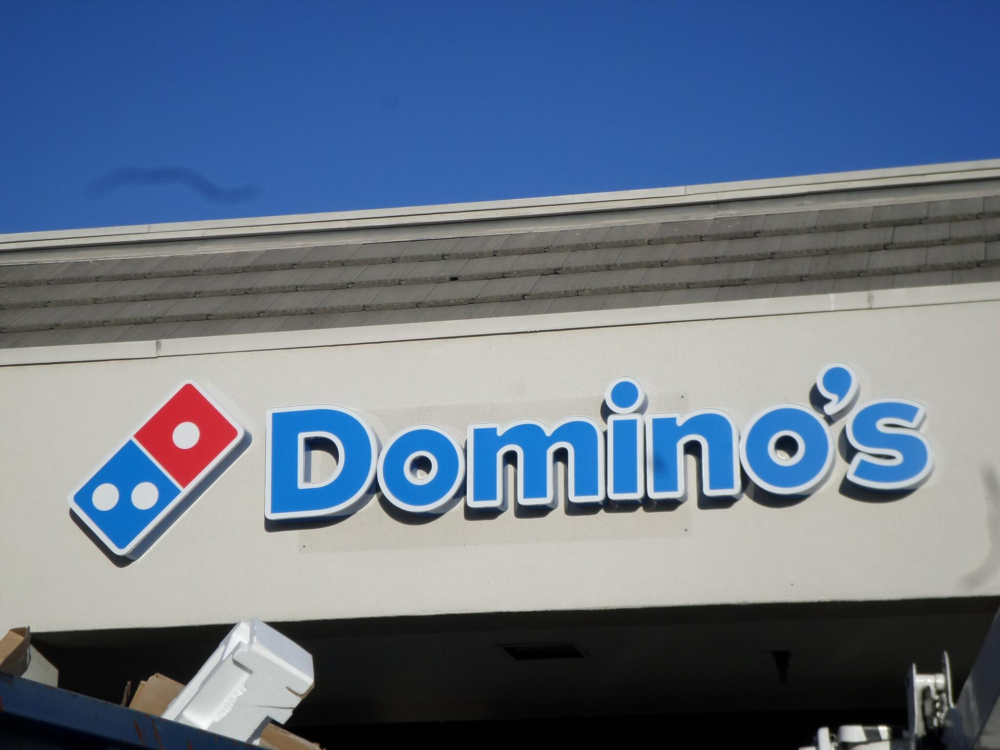 Domino's store front Channel Letter sign, San Jose, CA