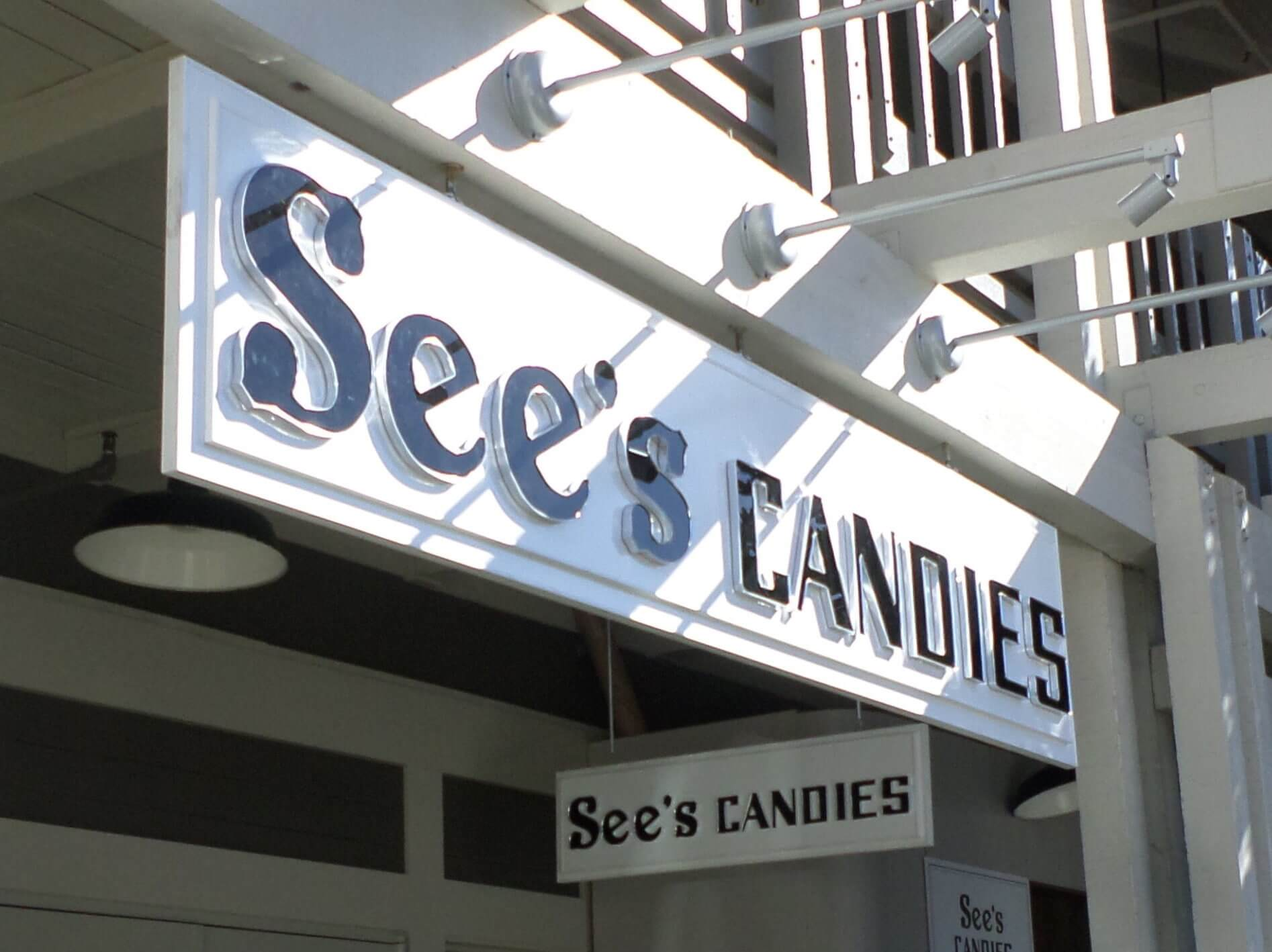See's Candies dimensional letters for Los Altos, CA