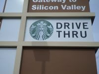 Starbucks Drive thru sign installed, Milpitas CA