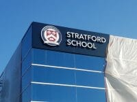 Stratford Schools Channel Letter signs in Milpitas, CA