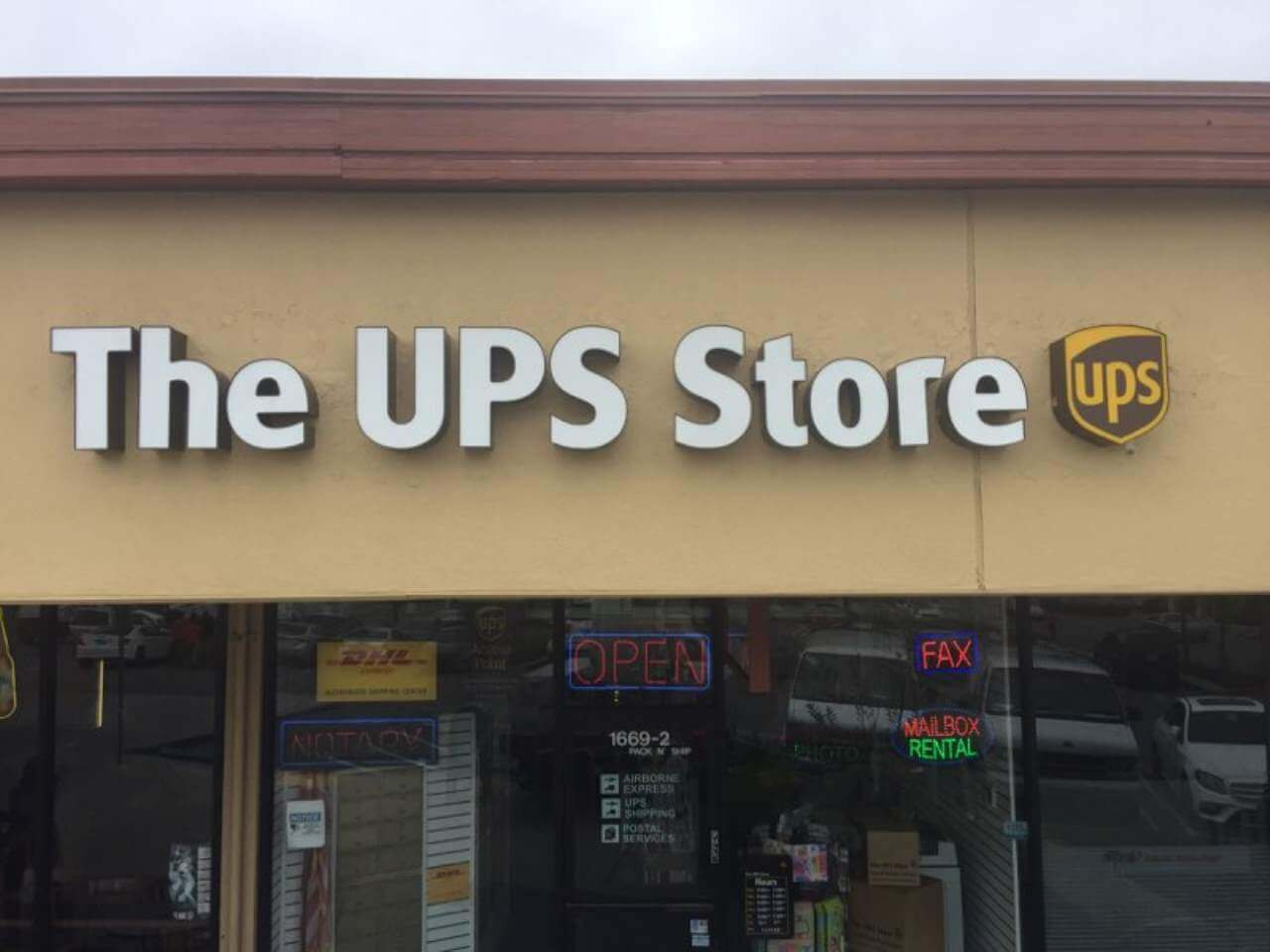 signage for the ups store sjp signs